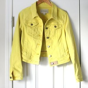 Pilcro and the letterpress yellow jean jacket